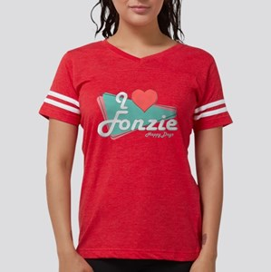 I Heart Fonzie Womens Football Shirt